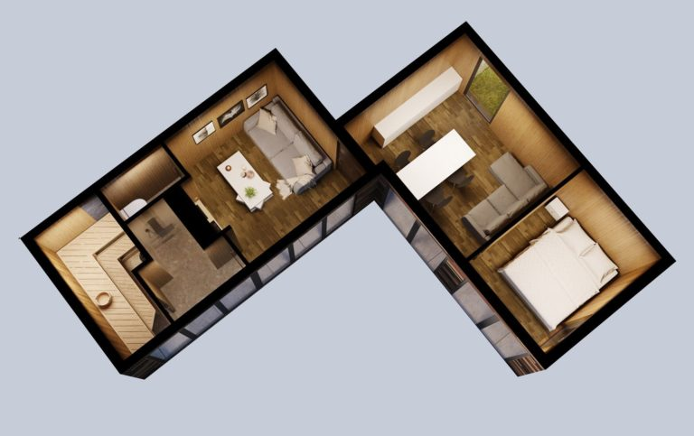 Peremaja plaan | Cube House