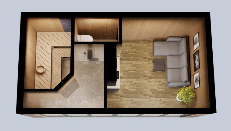 Saunamaja plaan | Cube House